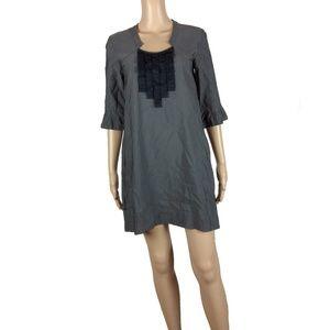 Like new! Generra dark grey ruffle shift dress